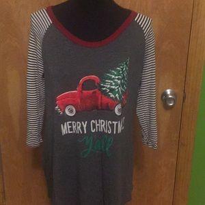 Zutter Tops - Christmas raglan sleeve boutique shirt